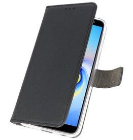 Wallet Cases Hoesje voor Galaxy J6 Plus Zwart