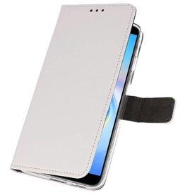 Wallet Cases Hoesje voor Galaxy J6 Plus Wit