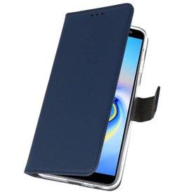 Wallet Cases Hoesje voor Galaxy J6 Plus Navy