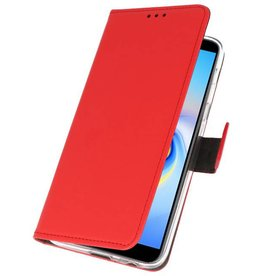 Wallet Cases Hoesje voor Galaxy J6 Plus Rood