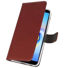 Wallet Cases Tasche für Galaxy J6 Plus Braun