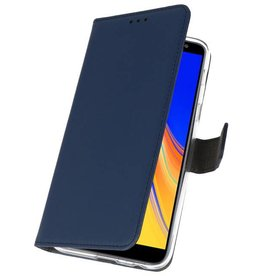 Wallet Cases Case for Galaxy J4 Plus Navy