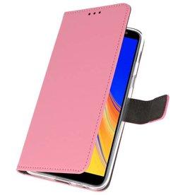 Wallet Cases Tasche für Galaxy J4 Plus Pink