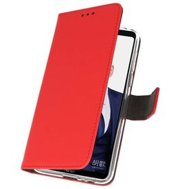 Wallet Cases Hülle für Huawei Note 10 Rot