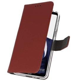 Wallet Cases Hülle für Huawei Note 10 Braun
