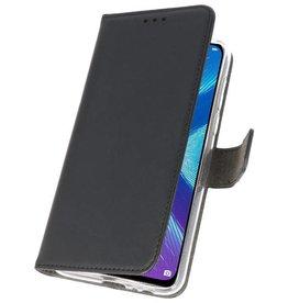 Wallet Cases Hülle für Huawei Honor 8X Schwarz