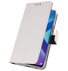Wallet Cases Hoesje voor Huawei Honor 8X Wit