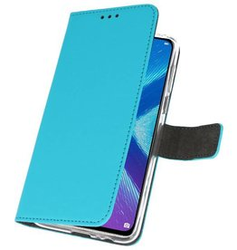 Wallet Cases Case for Huawei Honor 8X Blue