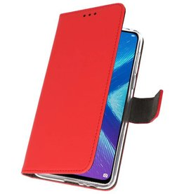 Wallet Cases Case for Huawei Honor 8X Red