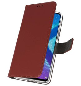 Wallet Cases Case for Huawei Honor 8X Brown