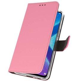 Wallet Cases Hoesje voor Huawei Honor 8X Roze