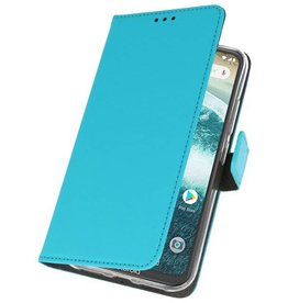 Wallet Cases Case for Moto One Blue