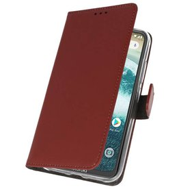 Wallet Cases Case for Moto One Brown