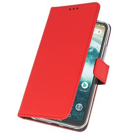 Wallet Cases Case for Moto One Power Red