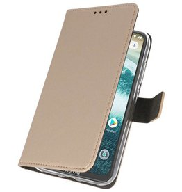 Wallet Cases Case for Moto One Power Gold