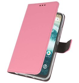 Wallet Cases Case for Moto One Power Pink