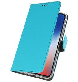 Wallet Cases Tasche für iPhone XS - X Blau