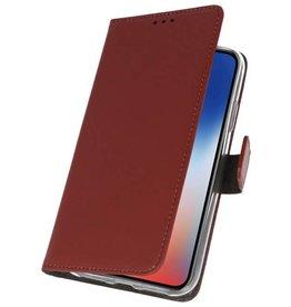 Wallet Cases Hoesje voor iPhone XS - X Bruin