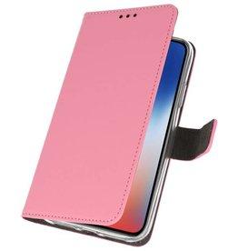 Mappen-Kasten für iPhone XS - X Rosa