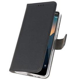 Wallet Cases Hoesje voor Nokia 2.1 Zwart