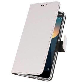 Wallet Cases für Nokia 2.1 Weiß