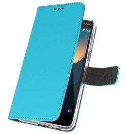 Wallet Cases Tasche für Nokia 2.1 Blau