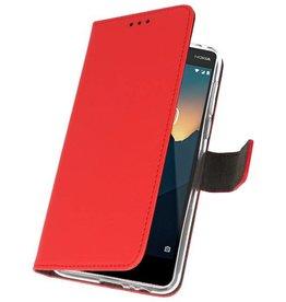 Wallet Cases Hülle für Nokia 2.1 Rot