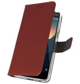 Wallet Cases Tasche für Nokia 2.1 Braun
