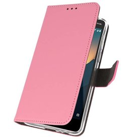 Wallet Cases for Nokia 2.1 Pink