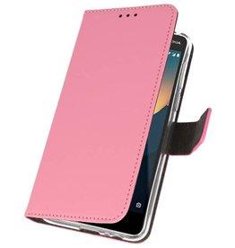 Wallet Cases Hoesje voor Nokia 2.1 Roze
