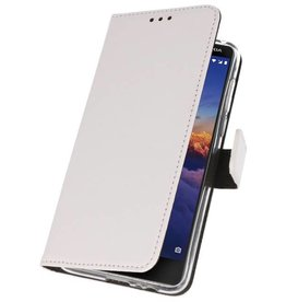 Wallet Cases Hoesje voor Nokia 3.1 Wit