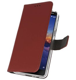 Wallet Cases Case for Nokia 3.1 Brown