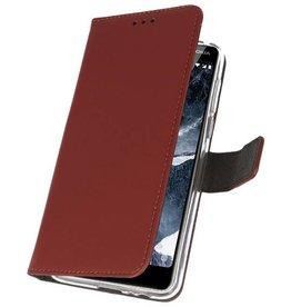 Wallet Cases Hoesje voor Nokia 5.1 Bruin