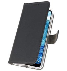 Wallet Cases Hoesje voor Nokia X5 5.1 Plus Zwart