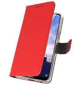 Wallet Cases for Nokia X6 6.1 Plus Red