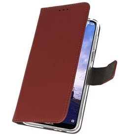 Wallet Cases for Nokia X6 6.1 Plus Brown