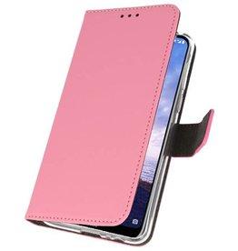 Wallet Cases Hoesje voor Nokia X6 6.1 Plus Roze