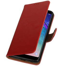 Pull Up Bookstyle for Samsung Galaxy A6 Plus 2018 Red