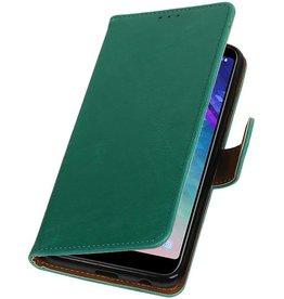 Pull Up Bookstyle für Samsung Galaxy A6 Plus 2018 Grün