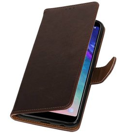 Pull Up Bookstyle for Samsung Galaxy A6 Plus 2018 Mocca