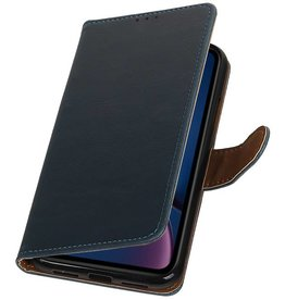 Pull Up Bookstyle for iPhone XR Blue