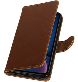 Pull Up Bookstyle for iPhone XR Brown