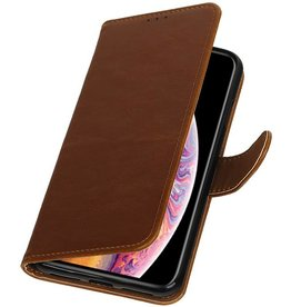 Pull Up Bookstyle for iPhone XS Max Brown