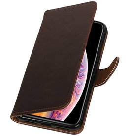 Pull Up Bookstyle for iPhone XS Max Mocca