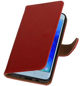 Pull Up Bookstyle for Samsung Galaxy J3 2018 Red