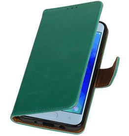 Pull Up Bookstyle for Samsung Galaxy J3 2018 Green