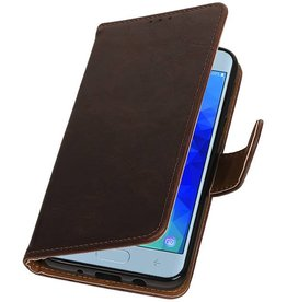 Pull Up Bookstyle for Samsung Galaxy J3 2018 Mocca