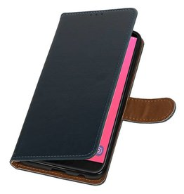 Pull Up Bookstyle for Samsung Galaxy J8 Blue