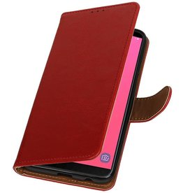 Pull Up Bookstyle for Samsung Galaxy J8 Red