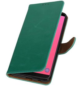 Pull Up Bookstyle for Samsung Galaxy J8 Green